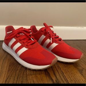 Adidas Flashback Sneakers - Red - size 8